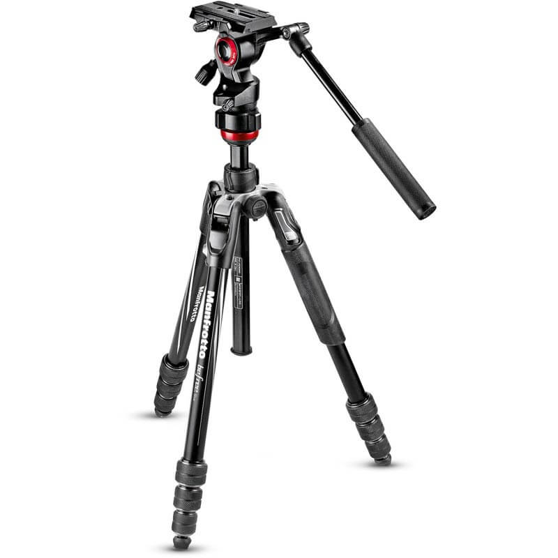 Manfrotto Befree live Aluminium tripod twist, video head