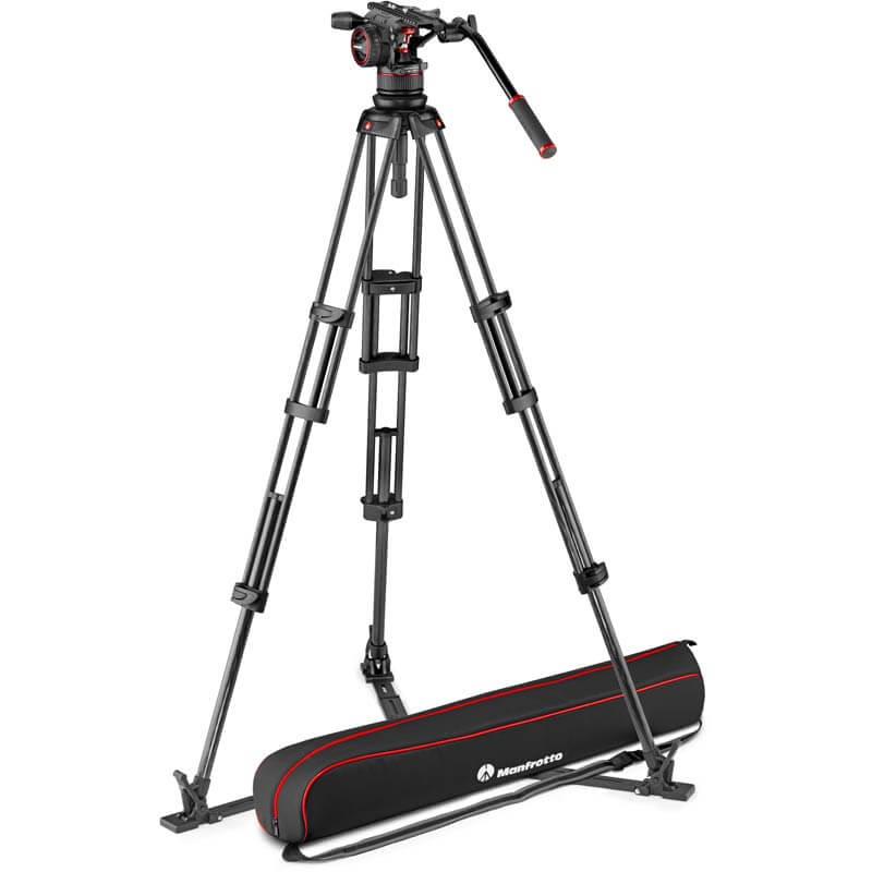 Manfrotto Nitrotech N12 video head w/CF Twin leg Tripod GS 100/75mm