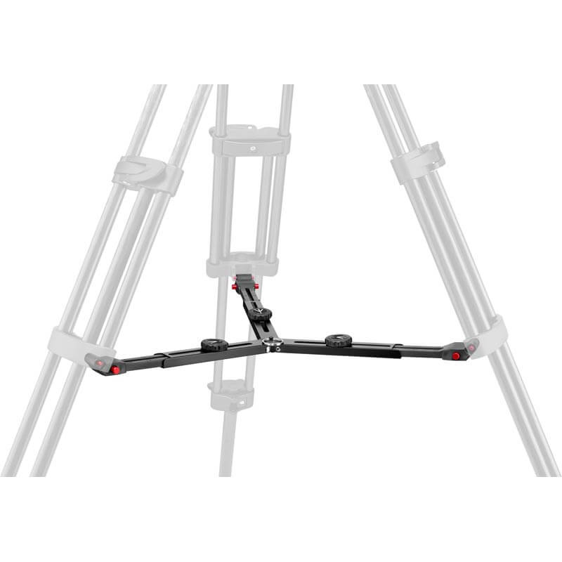 Manfrotto CF Twin Leg with Middle Spreader Video Tripod 100/75mm Bowl