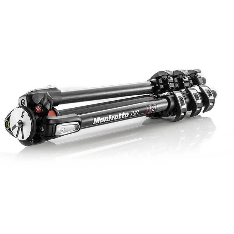 Manfrotto 190 Carbon Fibre 4-Section Camera Tripod