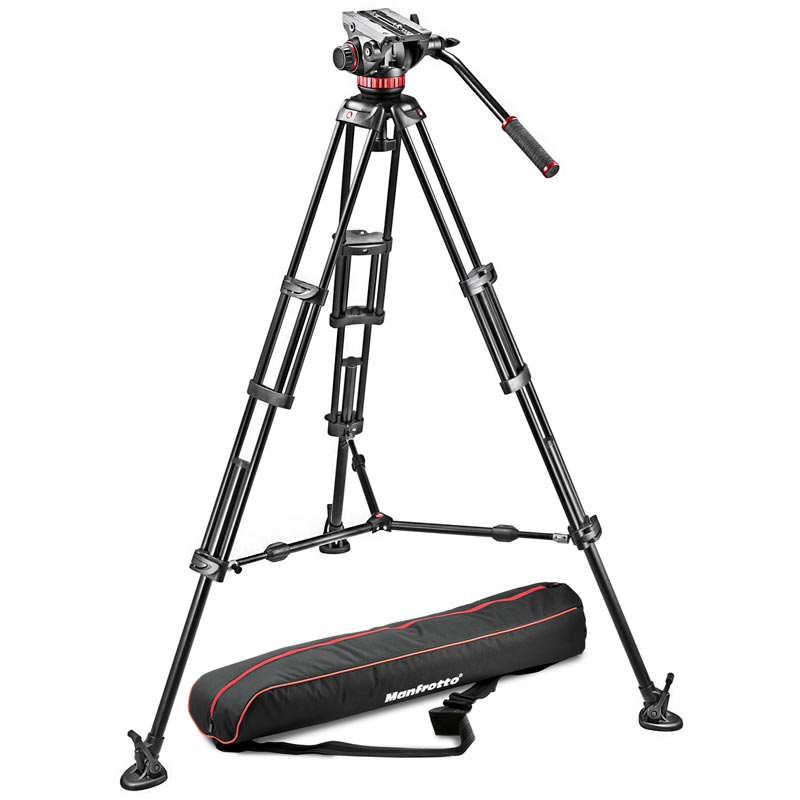 Manfrotto Aluminium Tripod with Sliding Plate | MVH502A Video Head