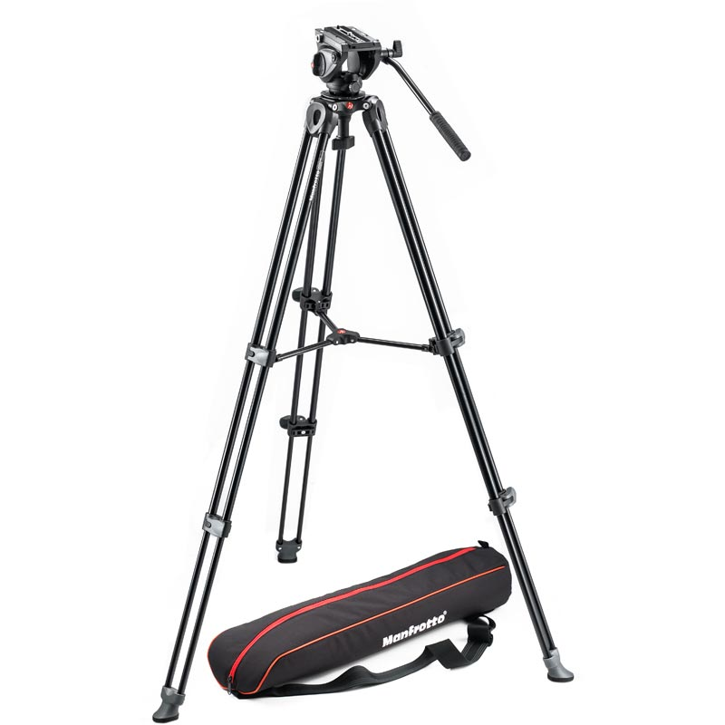 Manfrotto Lightweight Tripod | Video Head with Side Lock