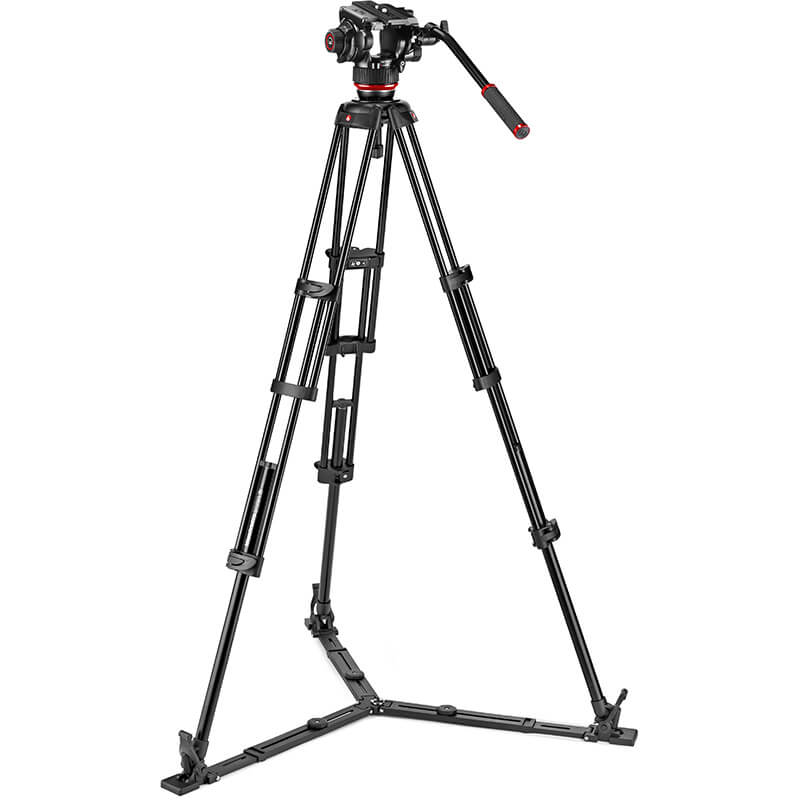 Manfrotto 504X Fluid Video Head | Alu Twin Leg Tripod GS