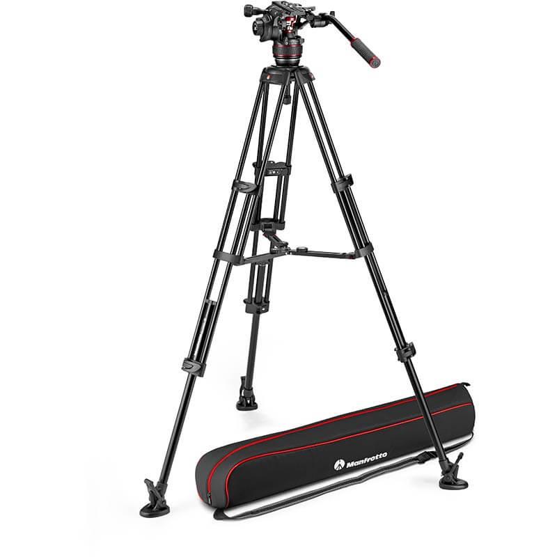 Manfrotto Nitrotech 608 Fluid Video Head w/Alu Twin Leg Tripod MS 100/75mm