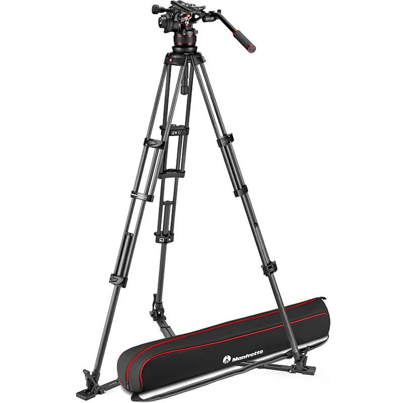 Manfrotto Nitrotech 612 Fluid Video Head w/CF Twin Leg Tripod GS 100/75mm