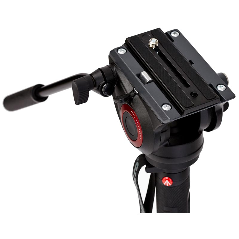 Manfrotto XPRO 4 Section Video Monopod | Fluid Head