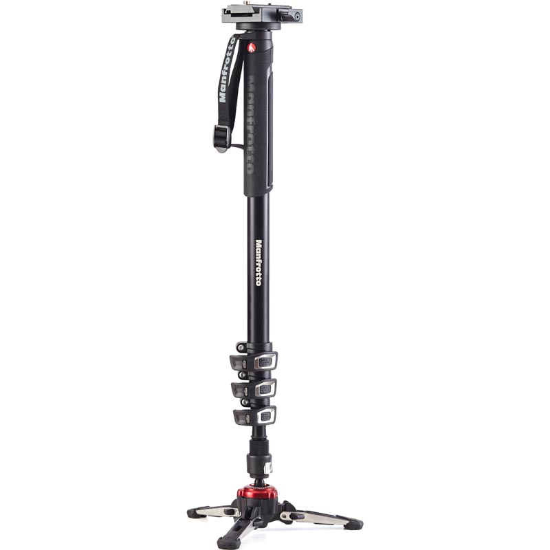 Manfrotto XPRO 4 Section Video Monopod - Sliding Plate