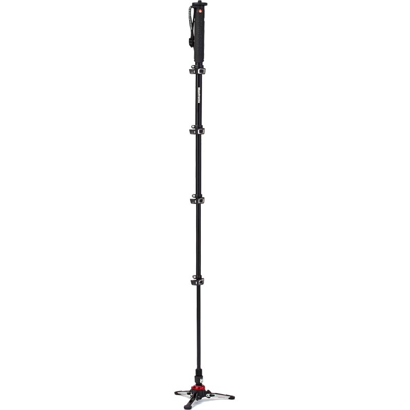 Manfrotto XPRO 5 Section Fluid Video Monopod - Aluminium