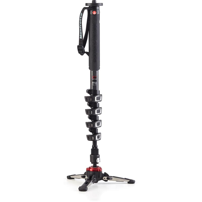 Manfrotto XPRO 5 Section Fluid Video Monopod - Carbon