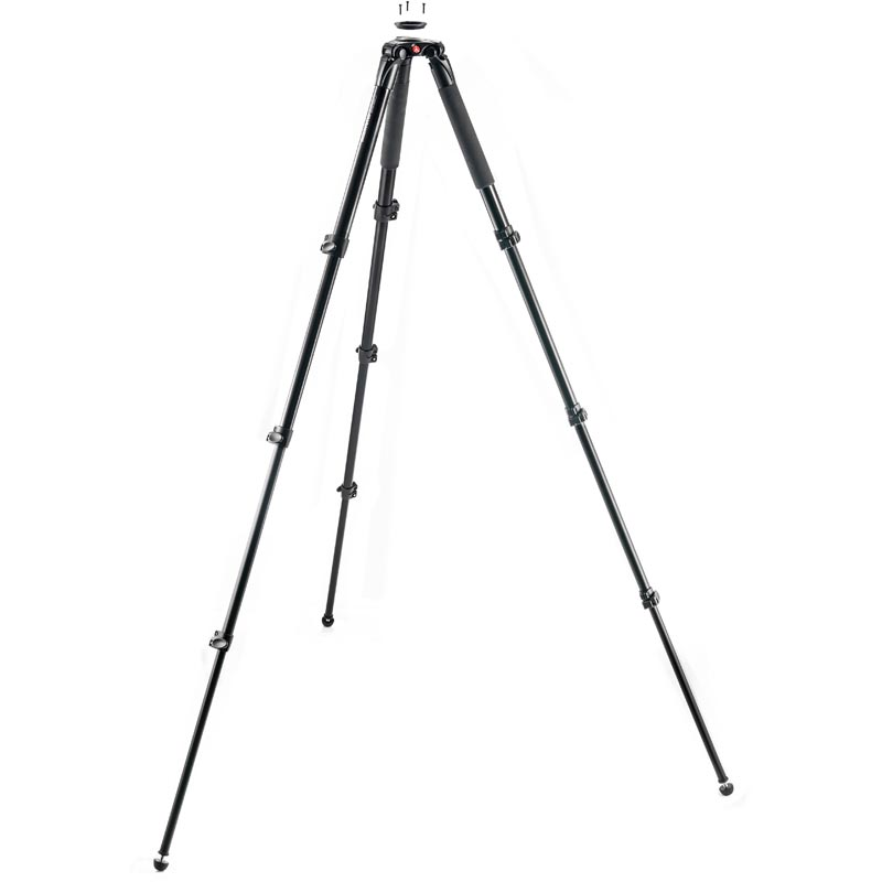 Manfrotto Aluminum Single Leg Video Tripod - 3 Risers