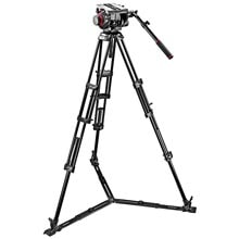 Manfrotto Pro Ground-Twin Kit 100 Tripod | 509HD Video Head