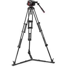 Manfrotto 504 Video Head w/CF Twin Leg Tripod GS 100/75mm