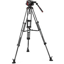 Manfrotto 504 Video Head w/CF Twin Leg Tripod MS 100/75mm