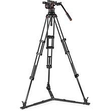 Manfrotto Nitrotech N12 video head w/CF Twin leg Tripod GS 100/75mm
