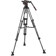 Manfrotto Nitrotech N12 video head w/CF Twin leg Tripod MS 100/75mm