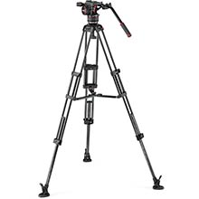 Manfrotto Nitrotech N8 video head w/CF Twin leg tripod MS 100/75mm