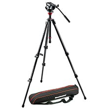 Manfrotto Lightweight Carbon Tripod | MVH500AH Video Head