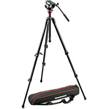 Manfrotto Lightweight Aluminium Tripod | MVH500AH Video Head