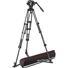Manfrotto 504X Fluid Video Head | Carbon Twin Leg Tripod GS