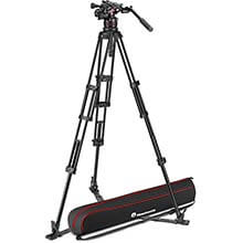 Manfrotto Nitrotech 612 Fluid Video Head w/Alu Twin Leg Tripod GS 100/75mm