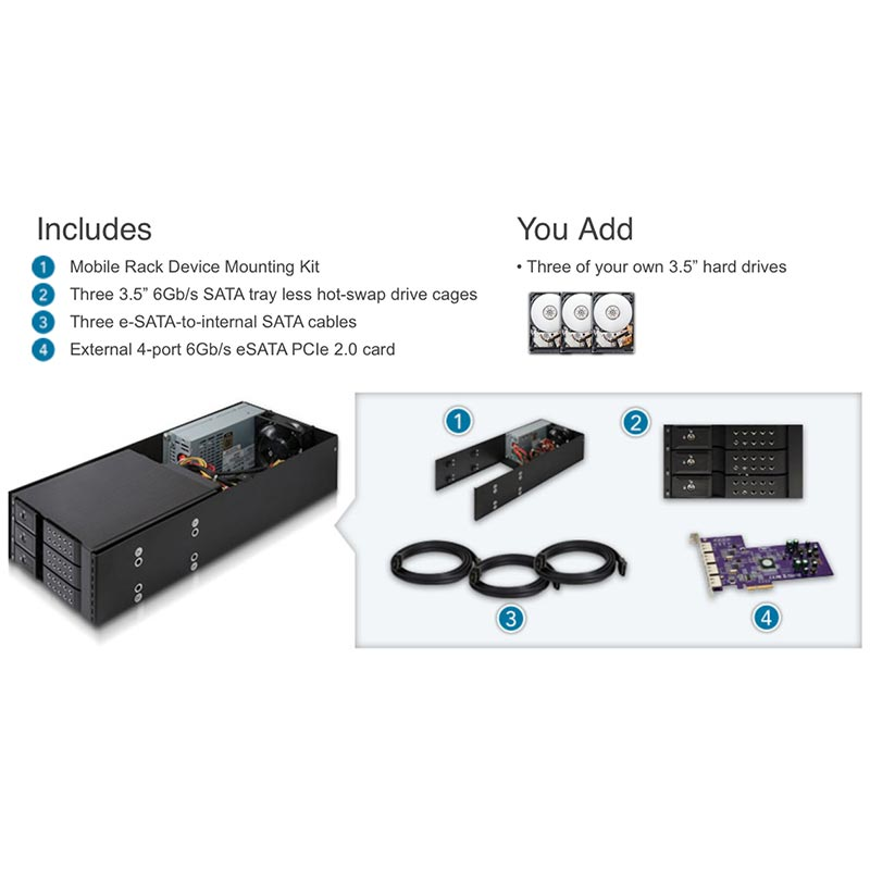 Sonnet Mobile Rack Kit - Pro Migration