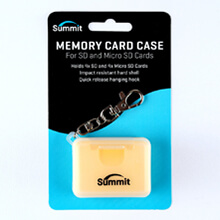 Summit SD/MicroSD Memory Card Case - Yellow