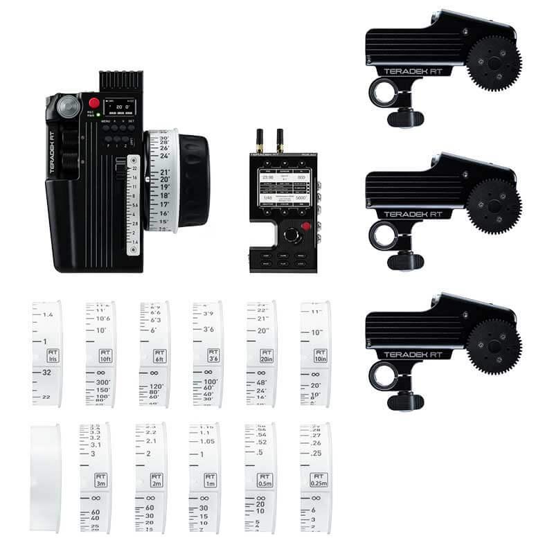 Teradek RT CTRL.3 Motor Wireless Lens Control Deluxe Kit (3-Motors, MDR.ACI)