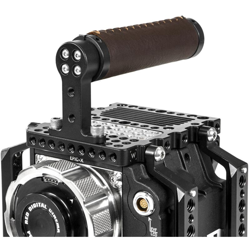 Wooden Camera Top Handle (Leather)