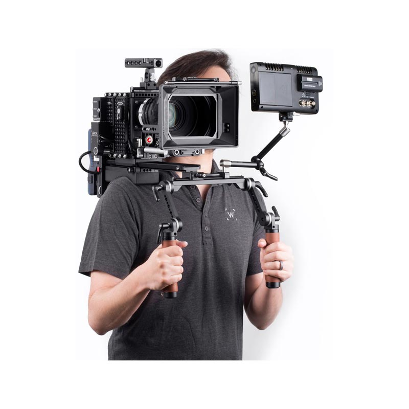 Wooden Camera Shoulder Rig v2 Brown (Mid)
