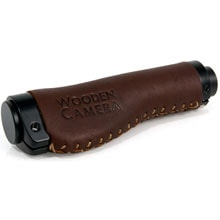 Wooden Camera Side Handle Grip (Leather)